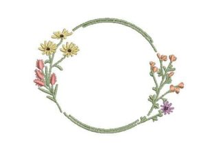 Vintagestyle Round Herb Border Borders Embroidery Design By Embroidery Designs