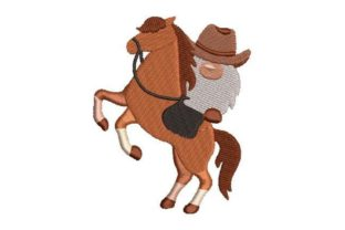 Westernstyle Gnome Farm & Country Embroidery Design By Embroidery Designs