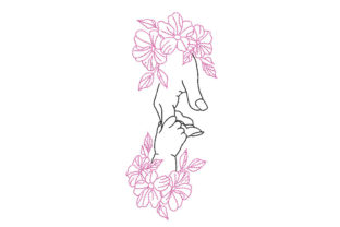 Baby and Mother's Hand Nursery Embroidery Design By Canada Crafts Studio