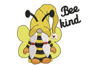 Bee Kind Gnome Girl Babies & Kids Embroidery Design By Canada Crafts Studio