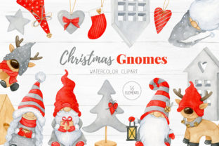 Christmas Hygge Gnome Clipart Graphic Illustrations By SipkaDesigns