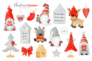 Christmas Hygge Gnome Clipart - 2
