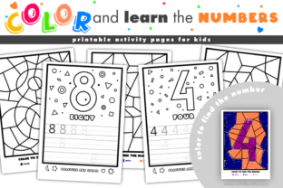 Print on Demand: Color and Trace Numbers   Activity Pages Graphic KDP Interiors By artsbynaty