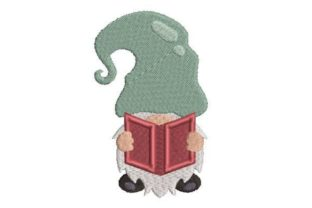 Gnome Reading a Book Games & Leisure Embroidery Design By Embroidery Designs