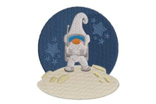Gnome in Space Robots & Space Embroidery Design By Embroidery Designs