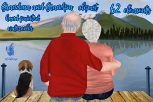 Print on Demand: Grandparents Clipart Family Clipart Graphic Illustrations By LeCoqDesign