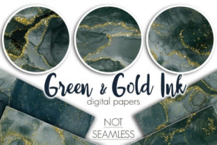 Green and Gold Papers Graphic Patterns By Tanya Kart