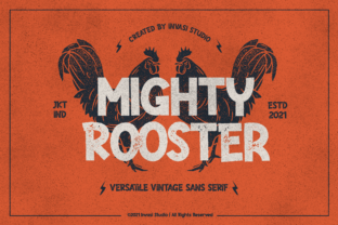 Print on Demand: Mighty Rooster Display Font By invasistudio
