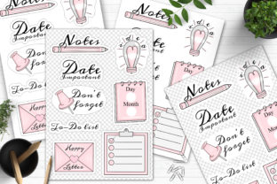 Print on Demand: Planner Printable Stickers Design Png Graphic Crafts By LerVik 3