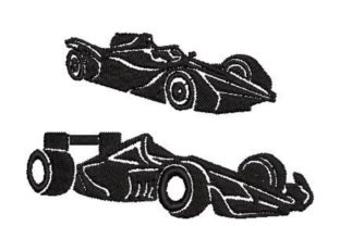Racing Cars Silhouettes Toys & Games Embroidery Design By Embroidery Designs