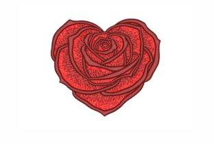 Rose Heart Valentine's Day Embroidery Design By NinoEmbroidery