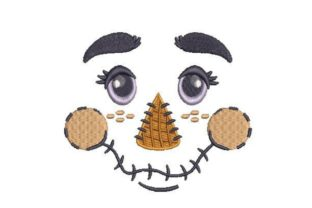 Scarecrow Face Autumn Embroidery Design By Embroidery Designs