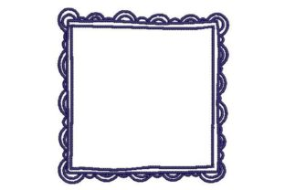Square Doodle Frame Borders Embroidery Design By Embroidery Designs