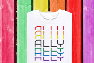 Stacked LGBT Ally Awareness Embroidery Design By DesignedByGeeks