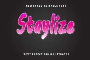 Print on Demand: Staylize-text Effect Graphic Layer Styles By 2kaleh.studio2