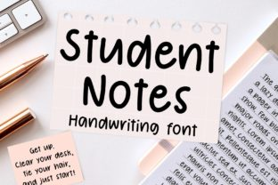 Print on Demand: Student Notes Script & Handwritten Font By Jyllyco