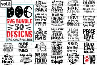 Print on Demand: These Are 30 Dog Quote Graphic for Print Graphic Print Templates By craft bundles