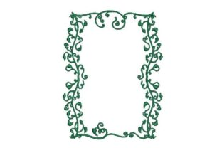 Vine Border Card Template Borders Embroidery Design By Embroidery Designs
