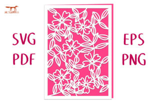 Wild Roses Greetings Card SVG Cut File Graphic 3D SVG By Nic Squirrell