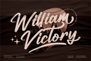 Print on Demand: William Victory Script & Handwritten Font By perspectype