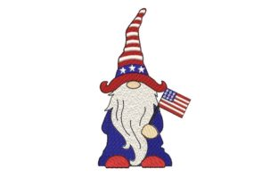 Print on Demand: 4th of July Gnome Patriotic Independence Day Embroidery Design By ArtEMByNatali