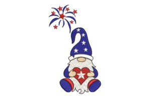 Print on Demand: Amercian Gnome Independence Day Embroidery Design By ArtEMByNatali