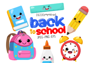 Print on Demand: Back to School Kawaii Clipart Graphic Illustrations By DigitalPapers