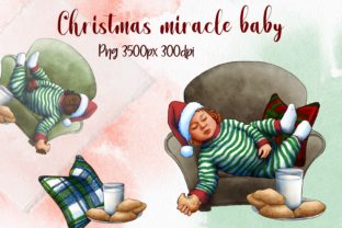Christmas Miracle Baby Clipart, NEW YEAR Graphic Illustrations By Arte de Catrin