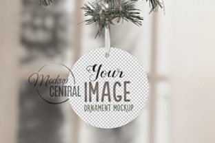 Circle Round Christmas Ornament Mockup Graphic Product Mockups By Mockup Central