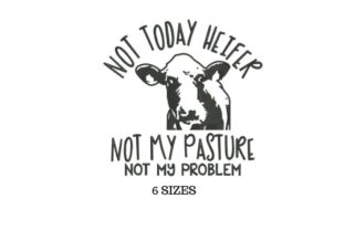 Cow Animal Quotes Embroidery Design By SVG Digital Designer