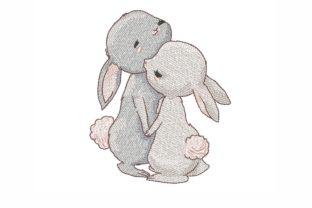 Cute Hares Animals Embroidery Design By NinoEmbroidery