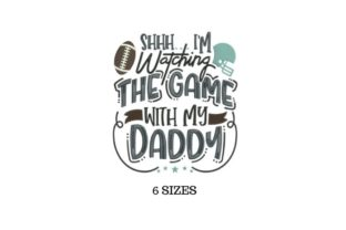 Daddy Football Father Embroidery Design By SVG Digital Designer