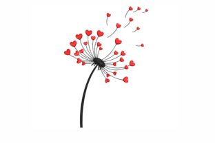 Dandelion Valentine's Day Embroidery Design By NinoEmbroidery