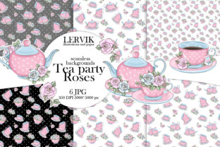 Print on Demand: Digital Paper Tea Party/ Pattern Coffee Graphic Patterns By LerVik