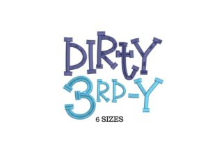 Dirty 3rd Anniversary Embroidery Design By SVG Digital Designer