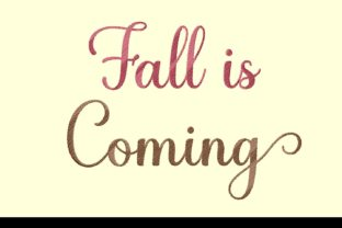 Print on Demand: Fall is Coming Autumn Embroidery Design By setiyadissi