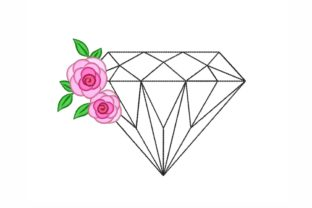Floral Diamond Wedding Designs Embroidery Design By NinoEmbroidery