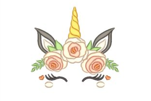 Floral Unicorn Fairy Tales Embroidery Design By NinoEmbroidery