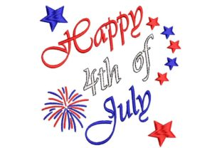 Happy 4th of July Independence Day Embroidery Design By BabyNucci Embroidery Designs