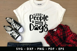 Less People More Dogs - SVG Cut File Graphic Crafts By CraftlabSVG