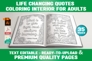 Print on Demand: Life Changing Quotes Coloring Pages Graphic Coloring Pages & Books Adults By Infinite Desings