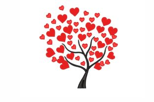Love Tree Valentine's Day Embroidery Design By NinoEmbroidery