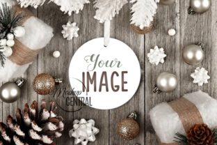 Rustic Round Christmas Ornament Mockup Graphic Product Mockups By Mockup Central