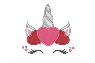 Unicorn Valentine's Day Embroidery Design By NinoEmbroidery
