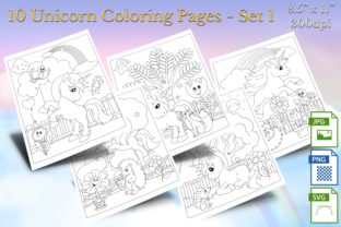 Print on Demand: Unicorn Horse Coloring Pages - Set 1 Graphic Coloring Pages & Books By Webmark