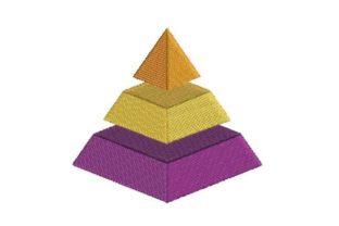 3D Pyramind Intricate Cuts Embroidery Design By Embroidery Designs