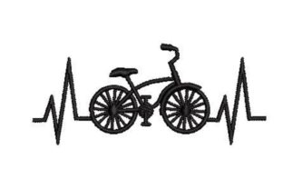 Bicycle Heartbeat Games & Leisure Embroidery Design By Embroidery Designs