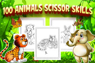 100 Animals Scissor Skills Activity Book Graphic Coloring Pages & Books Kids By Alpha Coloring