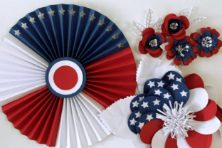 3D 4th of July Paper Flowers 3D SVG Craft Cut File By Creative Fabrica Crafts
