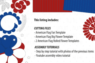 3D 4th of July Paper Flowers 3D SVG Craft Cut File By Creative Fabrica Crafts 2